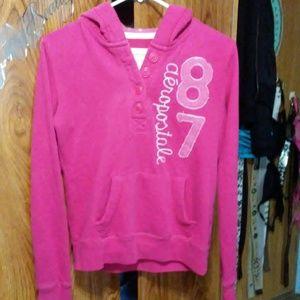 Aeropostale pink hoodie size medium